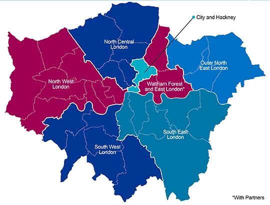 NHS digital footprints for London
