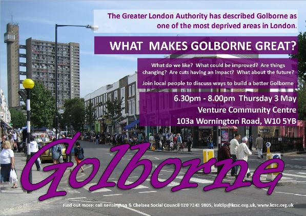 Golborne meeting poster